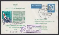 GERMANY, 1962. Rocket Flight Card Berlin, 48C1a
