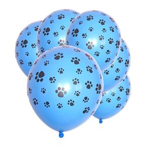 Paw-Print-Blue-Latex-Balloons-x-6-Paw-Patrol-Scooby-Doo-Pound-puppies-decoration