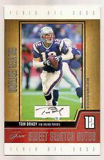 Tom Brady 2003 Fleer Flair Silver Edition Jumbo Auto/Autograph #142/175 Patriots