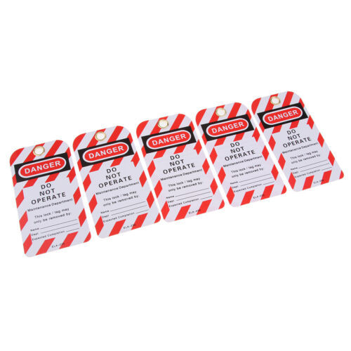 5PCS Security Key Lockout Tagout Tag Safety Name Marking Remark Card Label