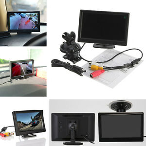 5-034-TFT-LCD-Retroviseur-Moniteur-Camera-Miroir-Support-Reverse-HD-W-NEUF