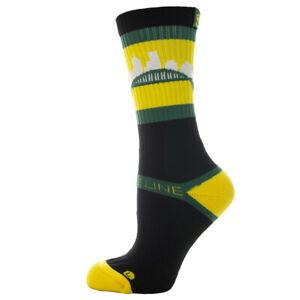 Strideline-Athletic-Socks-Portland-Yellow-Green-on-Black-801011-Strapped-Fit-Men