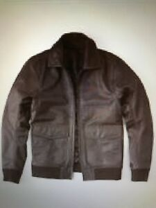 Brown New Abercrombie Leather Brand Men's Jacket Fitch amp; Small rXqR8XT