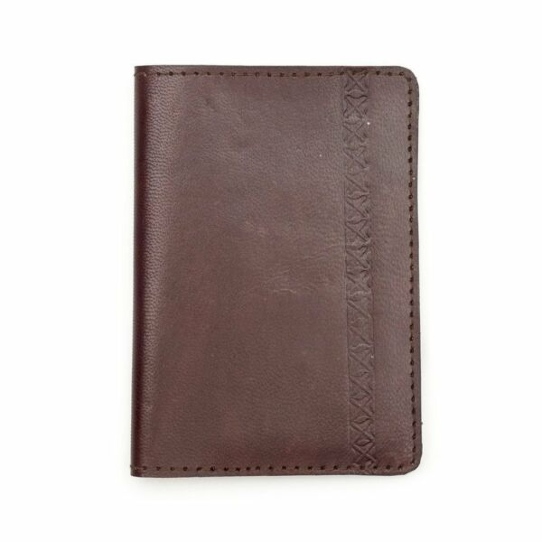 213bf79f80c11 Sustainable Leather 8x5 Passport Wallet Brown by Matr Boomie Handmade Fair  Trade