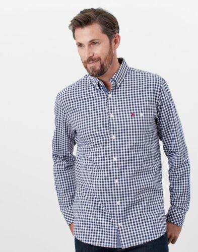 Joules Mens Abbott Long Sleeve Classic Fit Peached Poplin Shirt