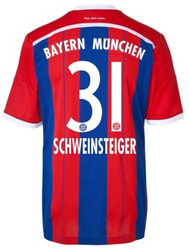 Trikot Adidas FC Bayern 2014-2015 Home FCB Schweinsteiger 164 bis XXL
