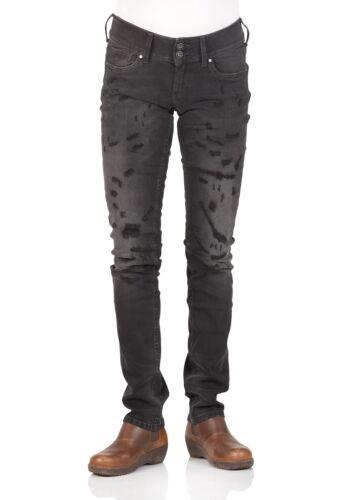 Schwarz Powerflex Regular Fit Pepe Jeans London Damen Jeans Vera Black