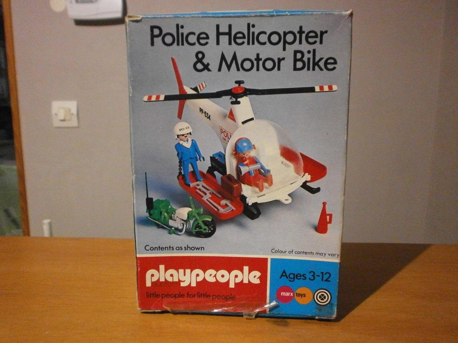 Très rare boîte Playmobil Playpeople l'hélicoptère de police réf  1765 de 1977  acheter une marque