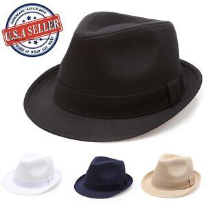 Details about MIRMARU Beach Classic Trilby Short Brim 100% Cotton Twill  Fedora Hat with Band 31edd87bd46