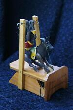 Vintage Acrobat/Flip Toy - Horse & Monkey Wood Toy called Dixie Doodle/Folk Art