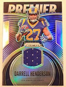 Darrell-Henderson-ROOKIE-PATCH-Los-Angeles-Rams-2019-Prizm-Premier-Silver