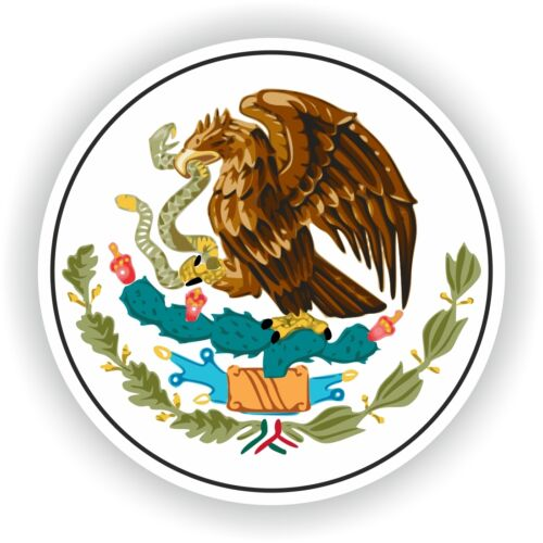 "Mexico Round Coat of Arms sticker 3.2x3.2/"" 8x8cm bumper decal car auto pegatina"