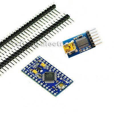 Pro Mini atmega328 5V 16M Arduino Compatible+FIDI FT232RL USB to Serial  adapter