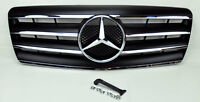 Mercedes S Class W140 92-99 4 Fin Front Hood Sport Black Grill Grille