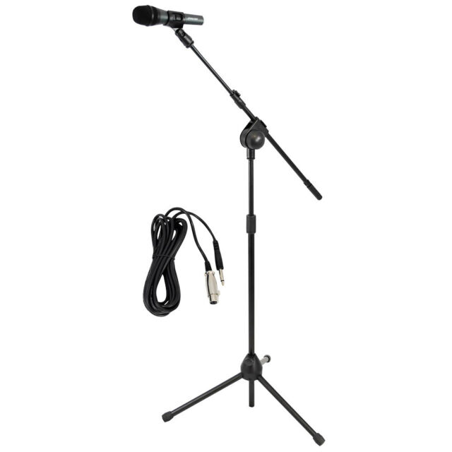 NEW Pyle PMKSM20 Microphone and Tripod Stand With Extending Boom & Mic Cable