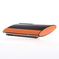 Textured Orange Carbon Fibre Playstation PS3 Super Slim Decal skin cover wrap