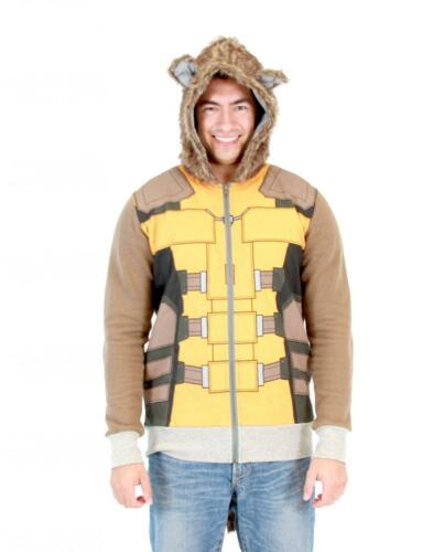Adult Marvel Movie Guardians of the Galaxy I Am Rocket Raccoon Costume Hoodie