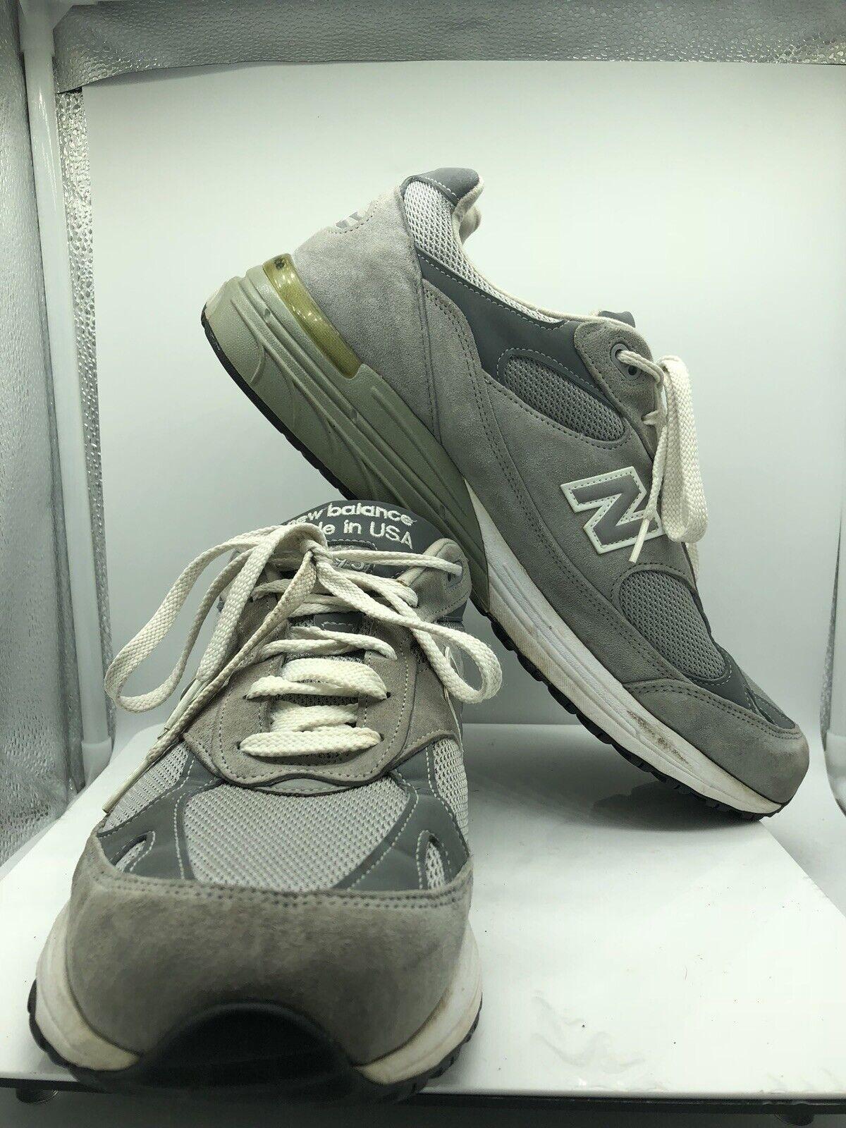 New para hombre Classic 993 correr Balance Zapatos Tenis Atléticas con Cordones gris