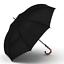 Groß Regen Reise Regenschirm Bambus Rattan Gebogen Griff Stark Windfest Anti UV