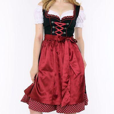 SALE Dirndl Womens Set 3 pcs Costume Dress Dress Blouse Apron Oktoberfest