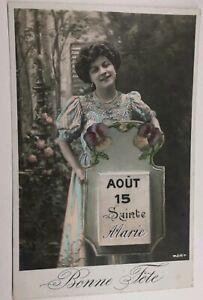 631-Antica-Cartolina-Colore-Agosto-15-Santa-Maria-Buona-Fete