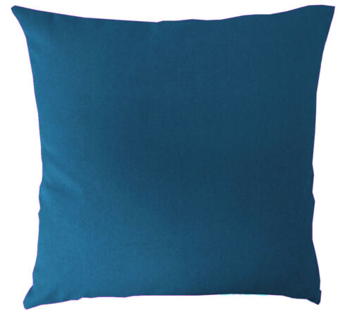 aa201a Dark Turquoise Blue Cotton Canvas Cushion Cover//Pillow Case*Custom Size*
