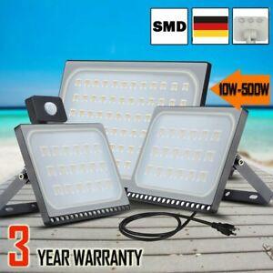10-500W LED Fluter Außen Strahler Flutlicht Scheinwerfer Garten Lampe IP65 DHL