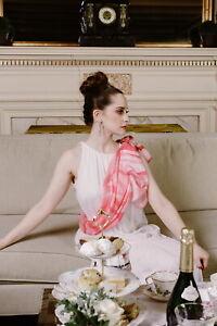 Valentino-Spring-Ribbons-Pink-Silk-Satin-Chiffon-Bridal-Evening-Gala-Stole-Wrap