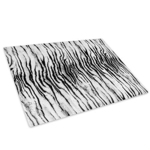White Tiger Black Grey Glass Chopping Board Kitchen Worktop Saver Protector