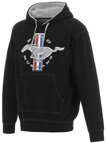 Ford Mustang Kapuzenpullover Herren Schwarz Sweatshirt Bedruckt Vorne ford Logo