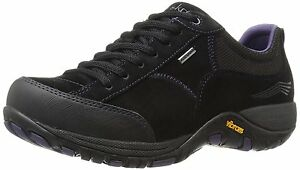 Women-039-s-Dansko-Portland-Sneakers-Paisley-Black-Suede-Leather
