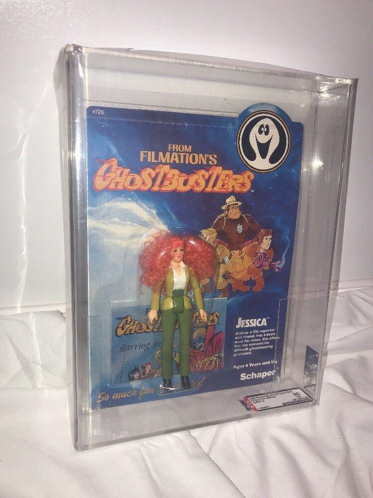 Vintage 1986 Filmation Ghostbusters Jessica AFA 80 MOC Schaper Unpunched