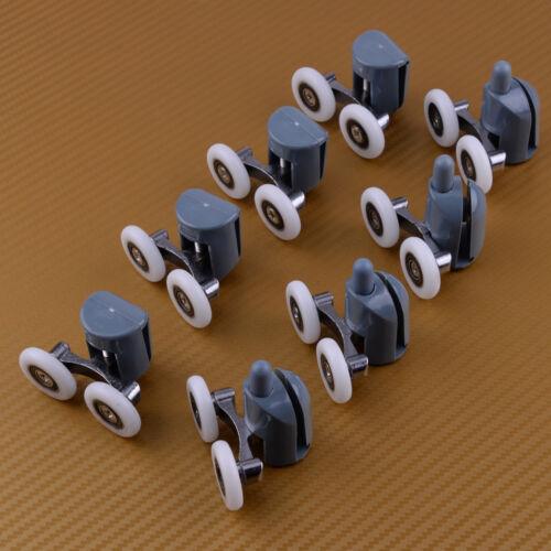 8xTop Upper /& Bottom Duschtür Rollenlaufrad 25mm Rad für 5mm-6mm Glas