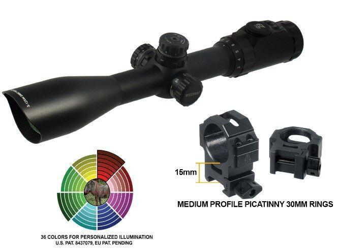 3-12X44 Scope UTG ACCUSHOT® Full Size  Mil-dot, 36 color illuminated Reticle