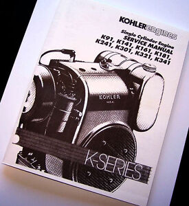 kohler engine service manual k181 k241 k301 k321 k341 repair shop rh ebay com Kohler K301 Kohler K301S Engine Parts Diagrams