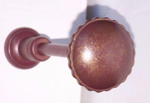 Qualité large brossé antique gold wooden curtain tiebacks hold backs copes bnib