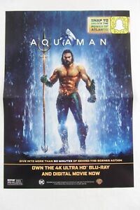 Details about NEW - AQUAMAN Snapchat Blu-Ray POSTER - approx 10
