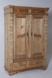 Armadio 2 ante stile Liberty in legno massello con cassetti cm ...