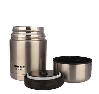 Haers Insulated Food Thermos With Bag 600ml Stainless Steel Food Container Jar
