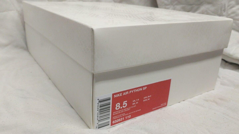 2013 Nike Air Python SP Lux SP Python Snake Skin White Metallic Silver 632631 110 sz 8.5 f6e8d7