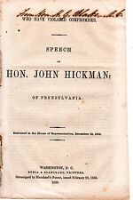 """Who Have Violated Compromises"" -- Speech of Hon. John Hickman - Dec. 12, 1859"