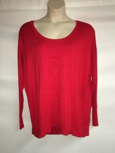 Lane-Bryant-Sweater-Red-Womens-Plus-Size-14-16-18-20-22-24-26-28-NWOT