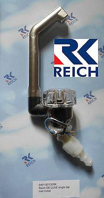 Reich Deluxe Single Cold Water Tap, Mat/Nickel for Caravan/Motorhome/Boat, NEW