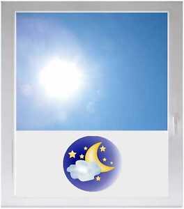Sichtschutzfolie-Sonnenschutz-Fensterfolie-GME155-Sternenhimmel-Halbmond
