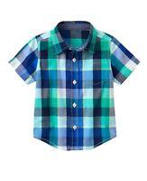 Gymboree Plaid Shirt Boys Clothes Size 6 12 18 24m 2t