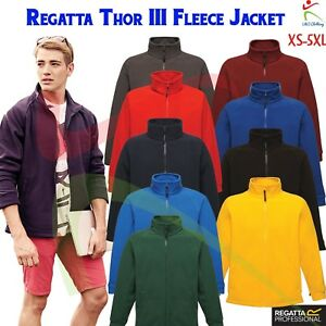New-Regatta-Mens-Thor-III-Fleece-Jacket-Full-Zip-Up-Casual-Leisure-Work-Wear-TOP