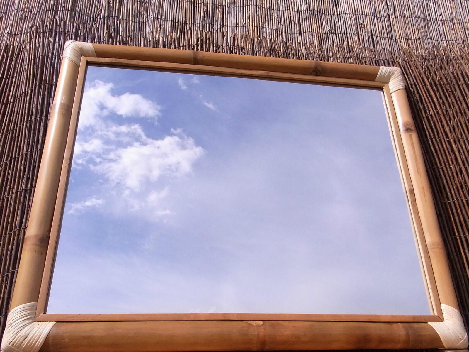 Bambusspiegel Spiegel Wandspiegel Badspiegel Bambus Holz natur XL II