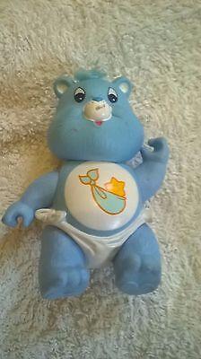 Care Bear Baby Rimorchiatori Blu 1980s Giocattolo Posa Vintage Rare-mostra Il Titolo Originale