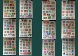Stamp Collection From India Pakistan Bangladesh Bahawalpur Travancore & A Few US