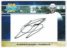 2017 President's Choice Blue and White Centennial autograph Kasperi Kapanen